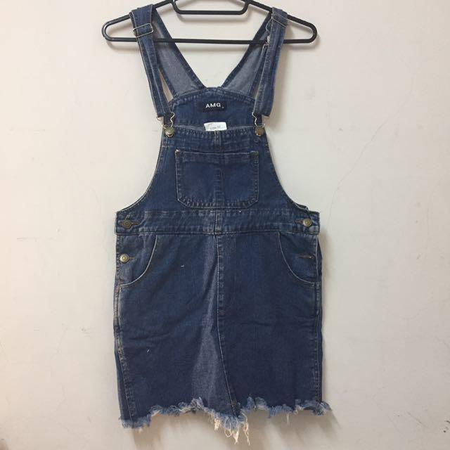牛仔吊帶裙 短裙 #一百元洋裝