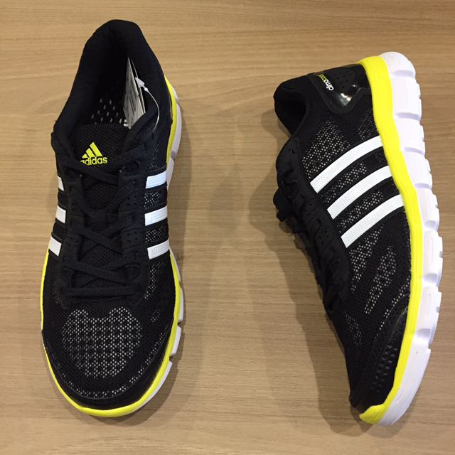 adidas cc fresh m 360度 透氣 黑 黃 慢跑鞋 訓練鞋 大尺碼 全新 保證公司貨