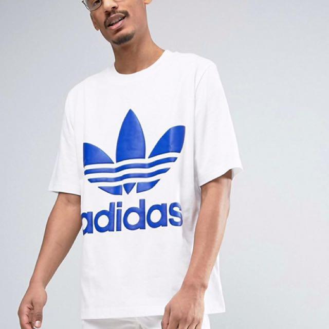 白藍Adidas Original 立體logo