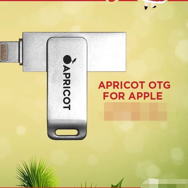 APRiCOT OTG FOR APPLE DEViCES Color Titanium (16gb and 32gb)