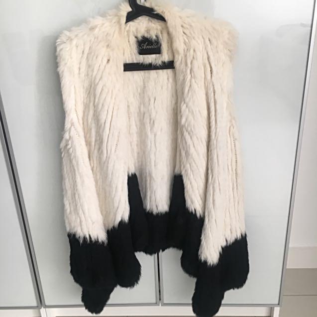 Arielle Rabbit Fur Vest