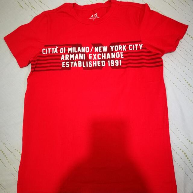 Armani Exchange Red Shirt
