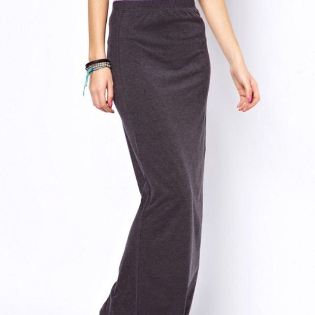 6a42f254f (Asos) Only Black Jersey Maxi Skirt