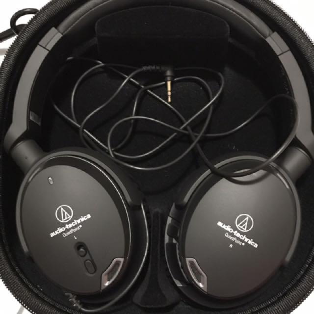 Audio Technica Noise Cancelling Headphones
