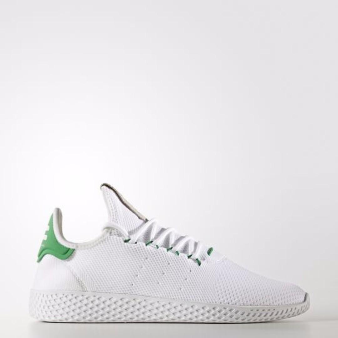 reputable site aa3ba 813b3 Authentic Adidas PHARRELL WILLIAMS HUMAN RACE (White / Green)