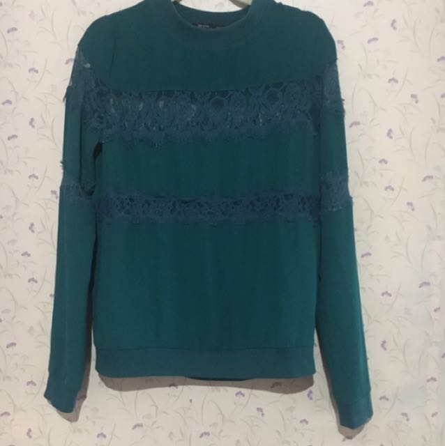 Bershka Pullover With Lace Design