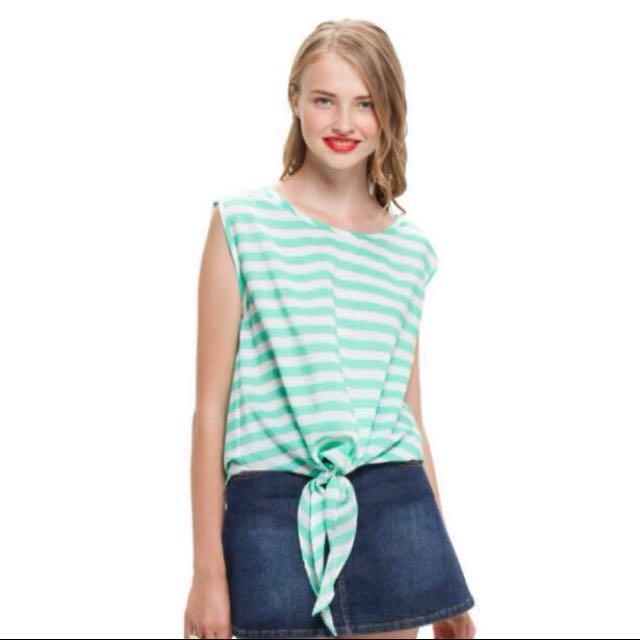 NEW! BIG SALE! Tied Stripe Sleevesless Top