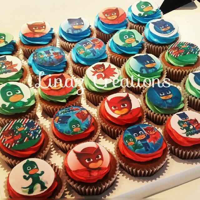 25pcs Pj Mask Birthday Cupcakes Food Drinks Baked Goods On Carousell