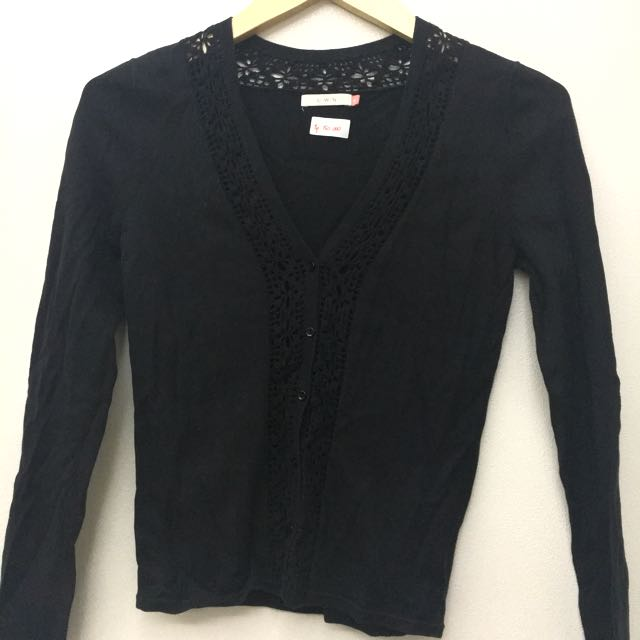 DISKON 50% Black Cardigan