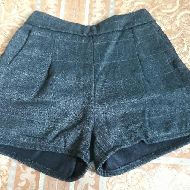 Black Cotton Short