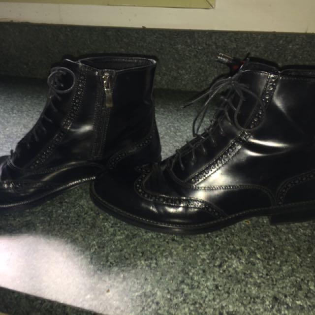 Black Mens Boots 9 (39)