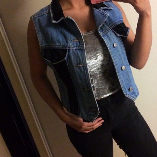 Black Velvet Vest