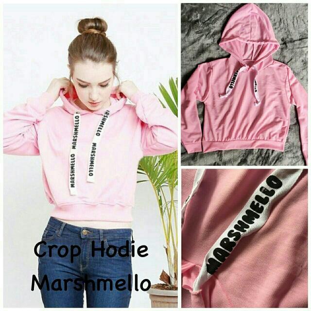 BM-Crop Hoodie Marshmello