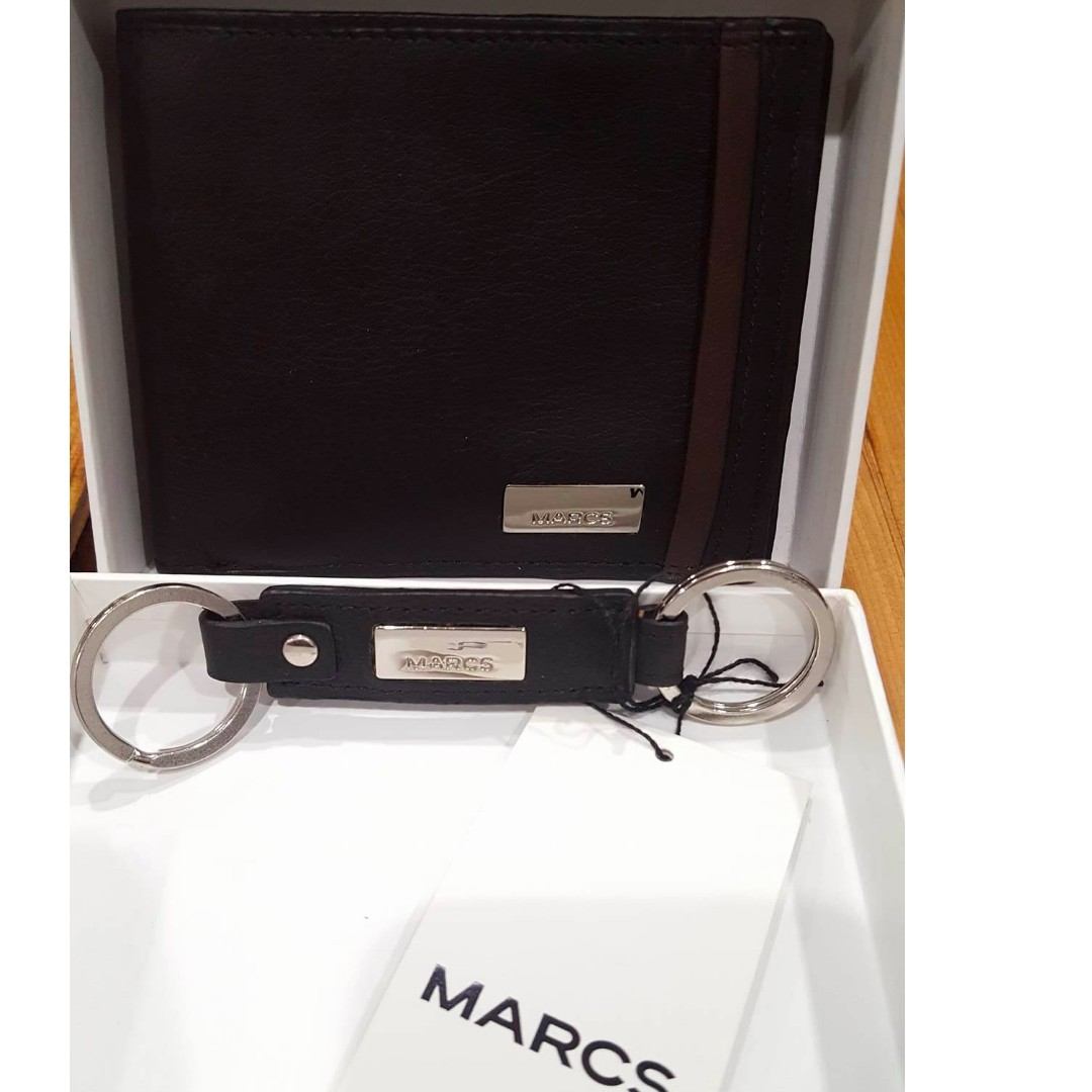 Brand New MARCS Mens wallet and key ring - Gift Set