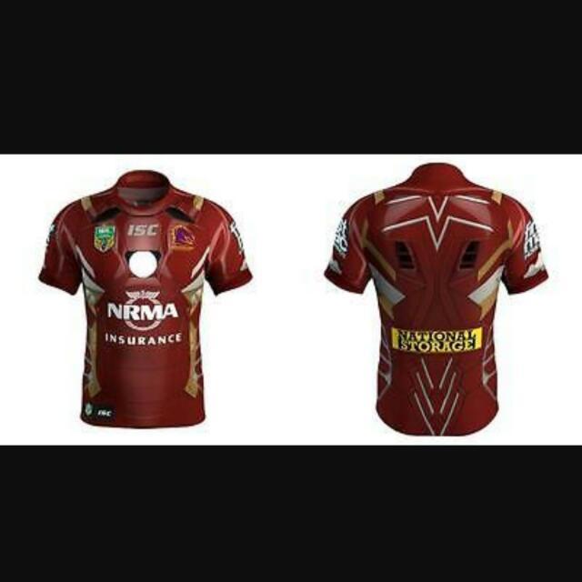 Brisbane Broncos Marvel jersey size L and XL