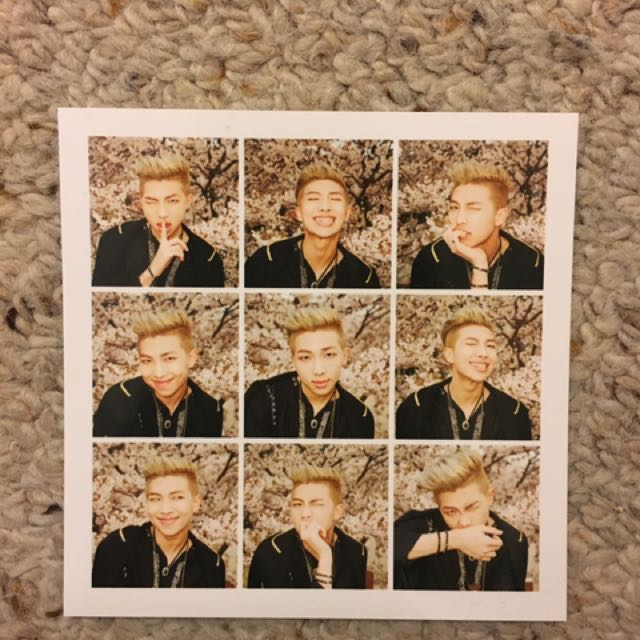 BTS Rapmonster HYYH Pt1 Photocard