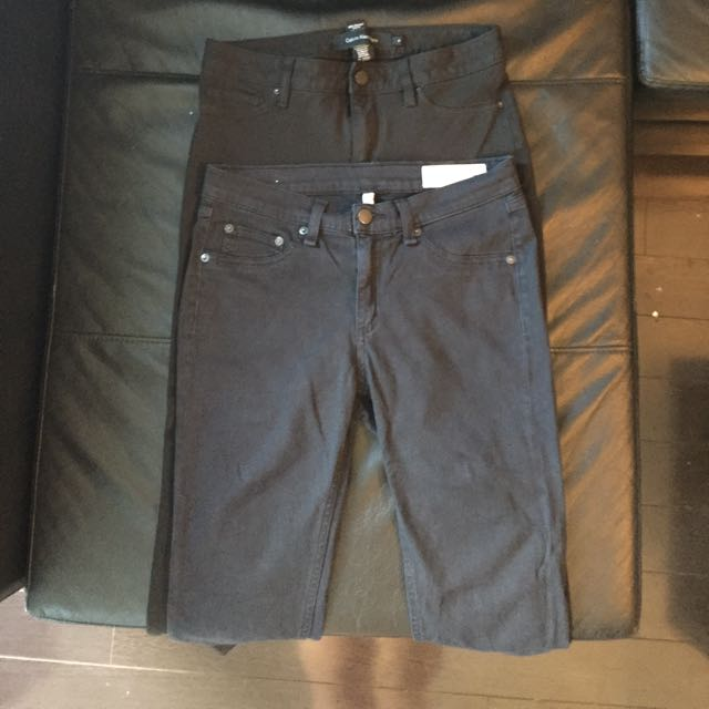 Bundle Of Black Jeans- Calvin Klein/rag&bone