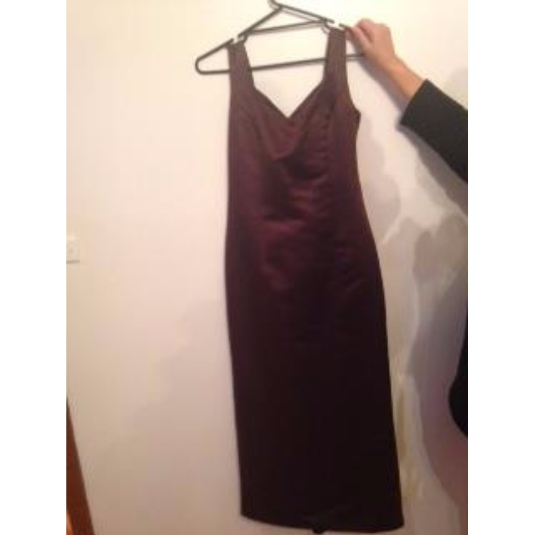 Chocolate brown sweetheart formal dress