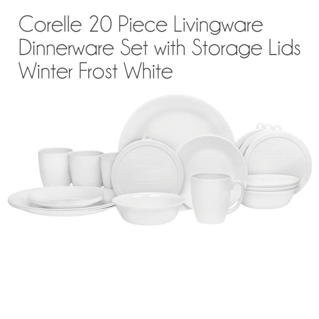 photo photo ...  sc 1 st  Carousell & Brand New Corelle 20 Piece Livingware Dinnerware Set with Storage ...