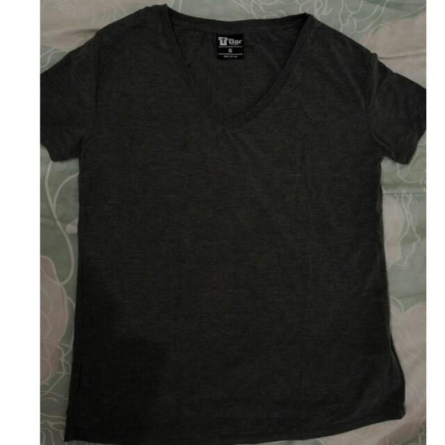 Cotton On V-neck Tshirt (Dark Grey)