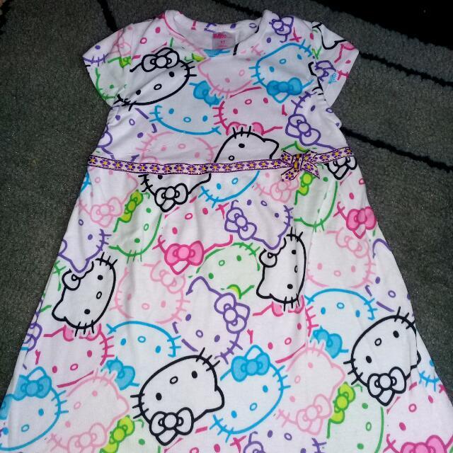Dress Hello Kitty Putih Merk Bobo Kids
