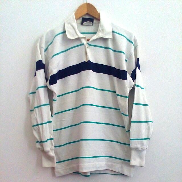 3cca6bfefaa EDDIE BAUER x CANTERBURY heavyweight rugby stripes polo shirt, Men's ...