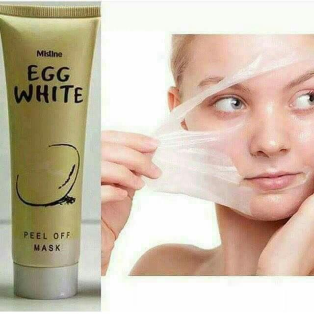 Egg white peel off mask