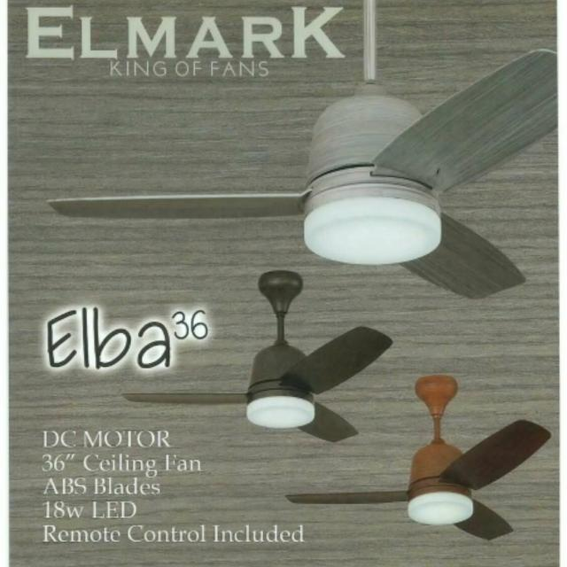 Elba 36 dc motor ceiling fan 24w 3 tone led light furniture photo photo photo photo photo aloadofball Image collections