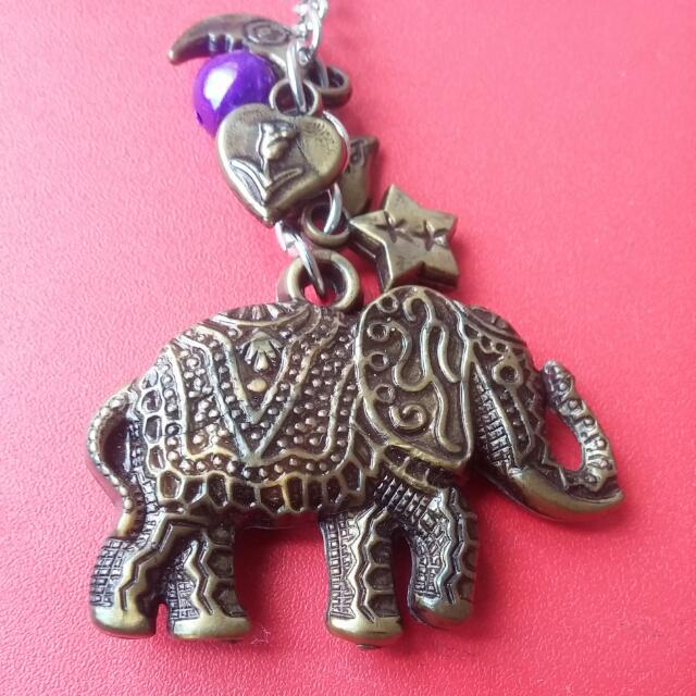 Elephant keychain from thailand