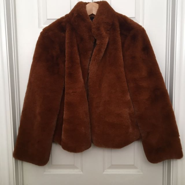 Forever 21 Faux Fur Cropped Jacket
