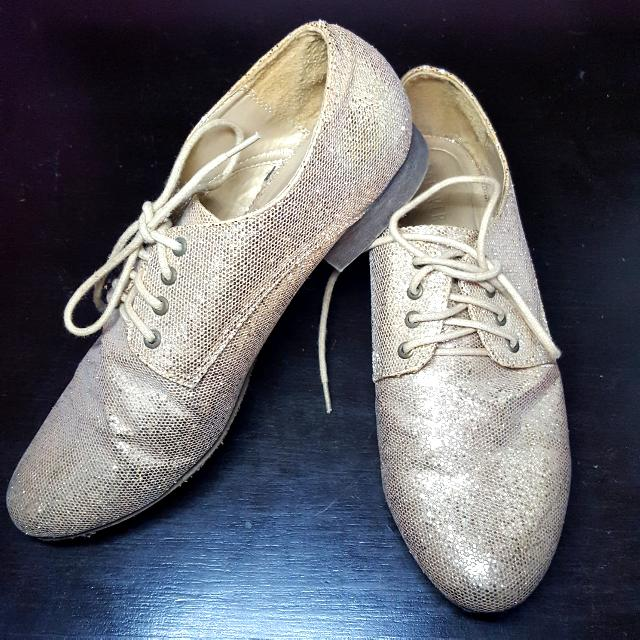 Forever 21 Glitter Oxford Shoes