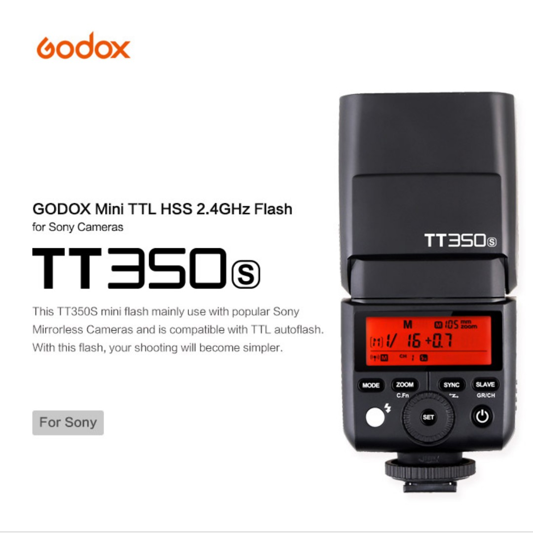 Godox Tt350s Ttl 24g Wireless Flash For Sony Mirrorless Camera Tt685s Untuk Photography On Carousell