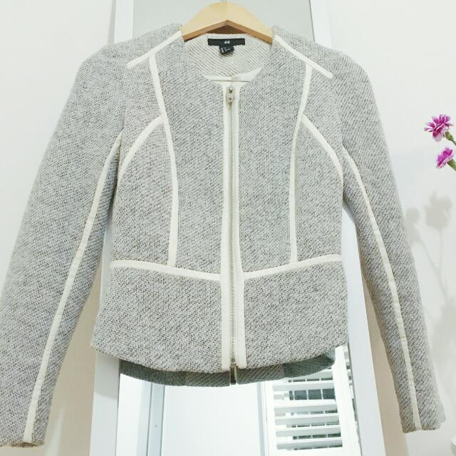 H&M JACKET Chanel Inspired Tweed AU 8 Small