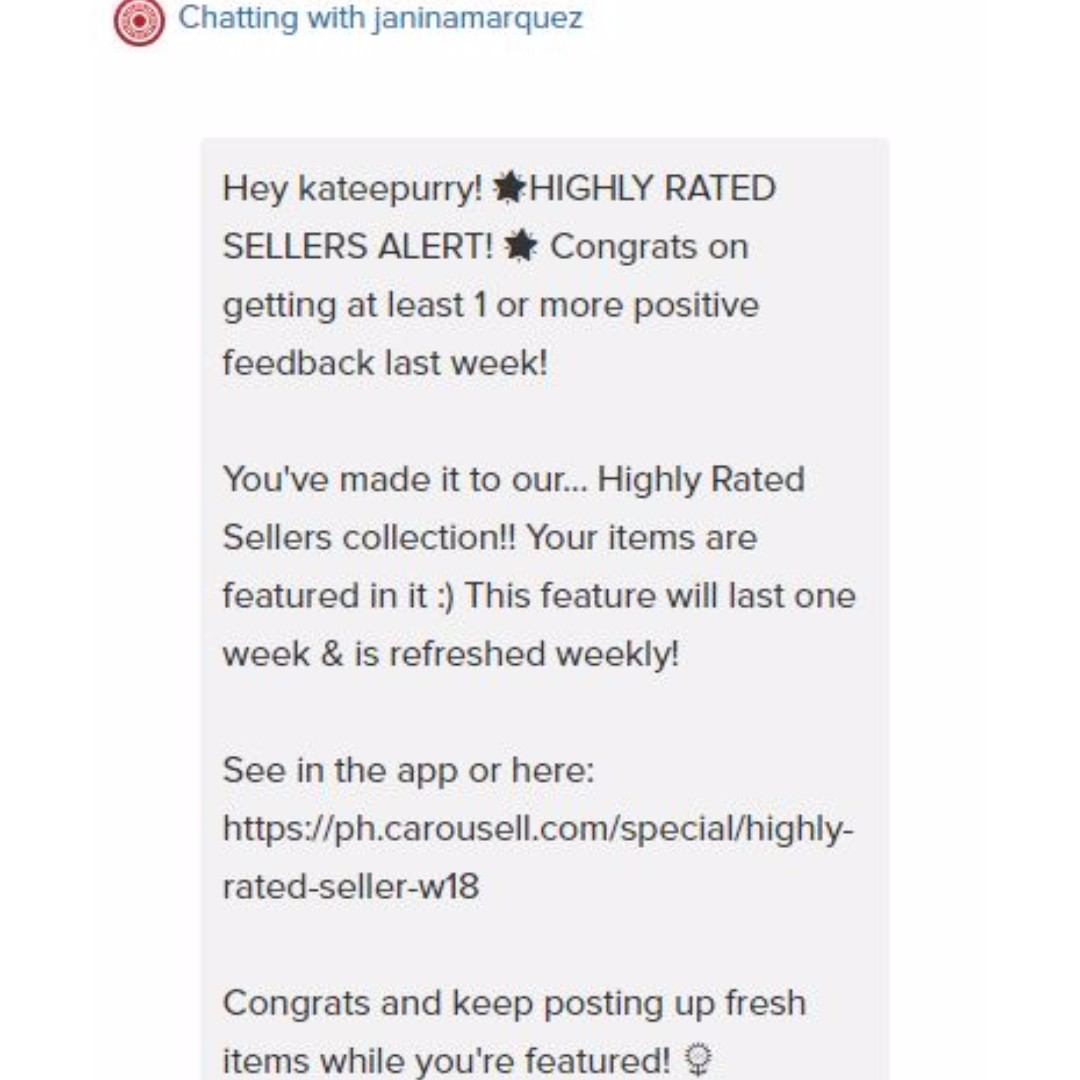 I MADE IT! HIGHLY RATED SELLERS ☺