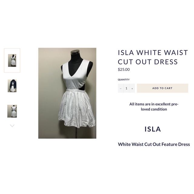 Isla White Cut Out Dress