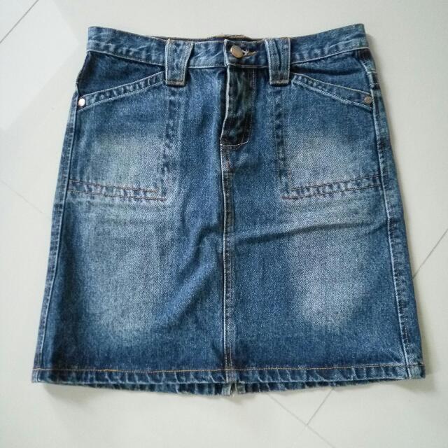 Jatuhharga Jeans Skirt