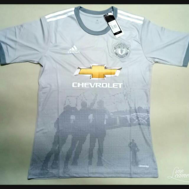 newest collection 2d9a7 87726 jersey Manchester United (MU) kelabu grey