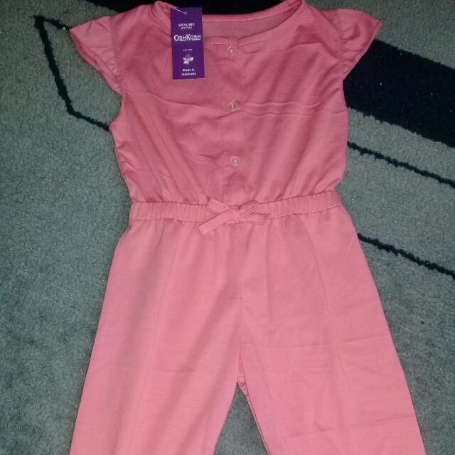 Jumpsuit Pink Merk Oshkosh, New With Tag