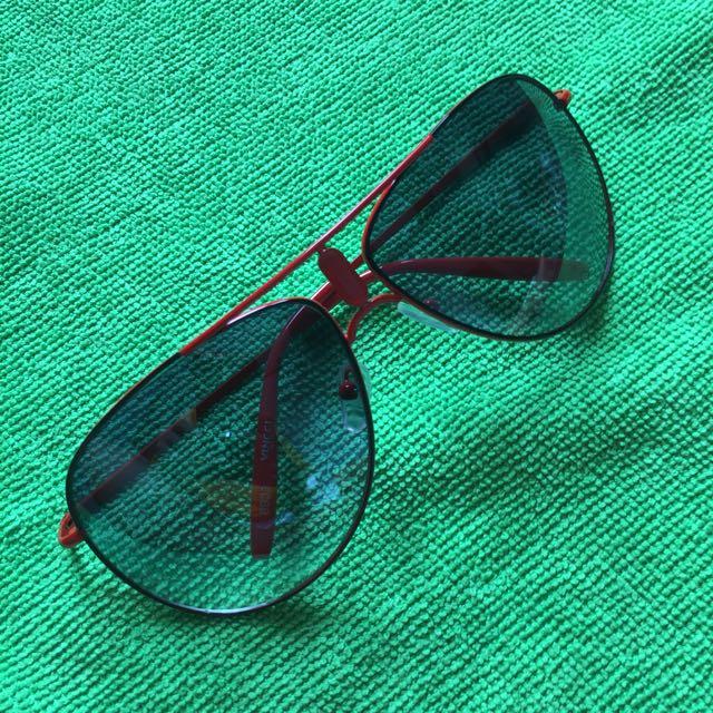 Kacamata Aviator Frame Merah