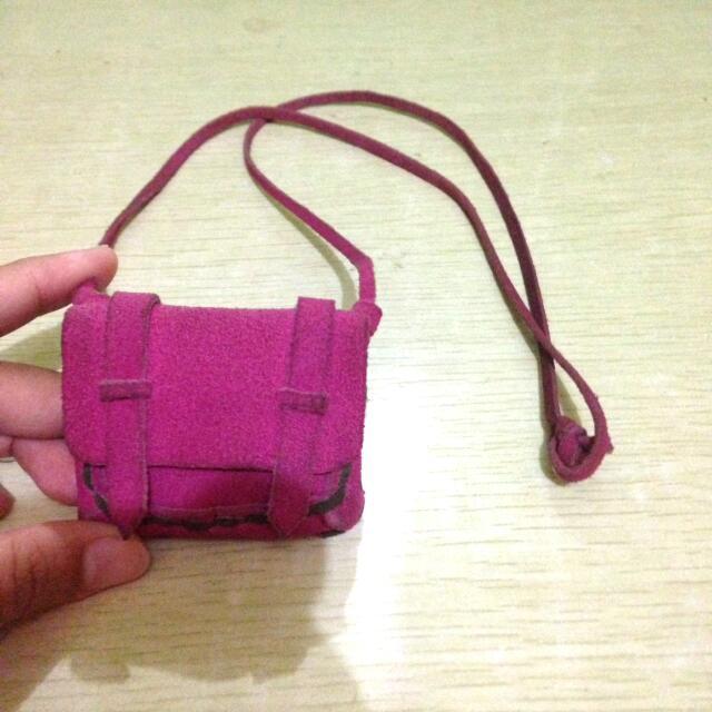 Kalung tas pink