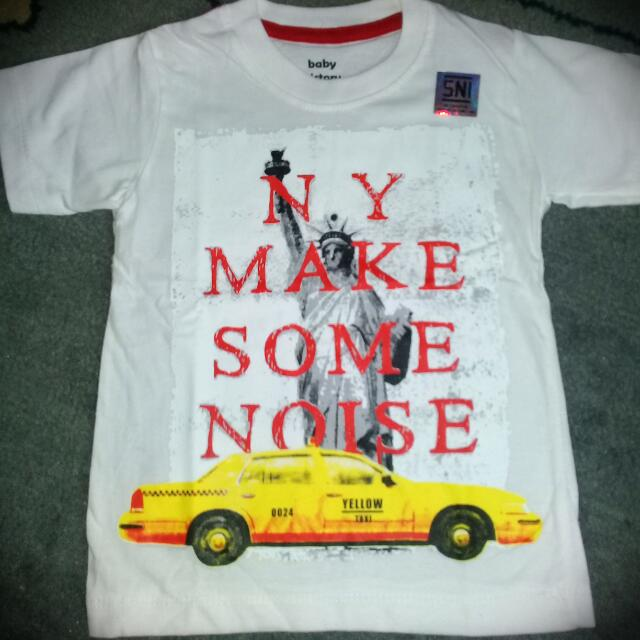 """Kaos Anak Cowok Merk Baby Victory """"NY Make Noise"""" New With Tag"""