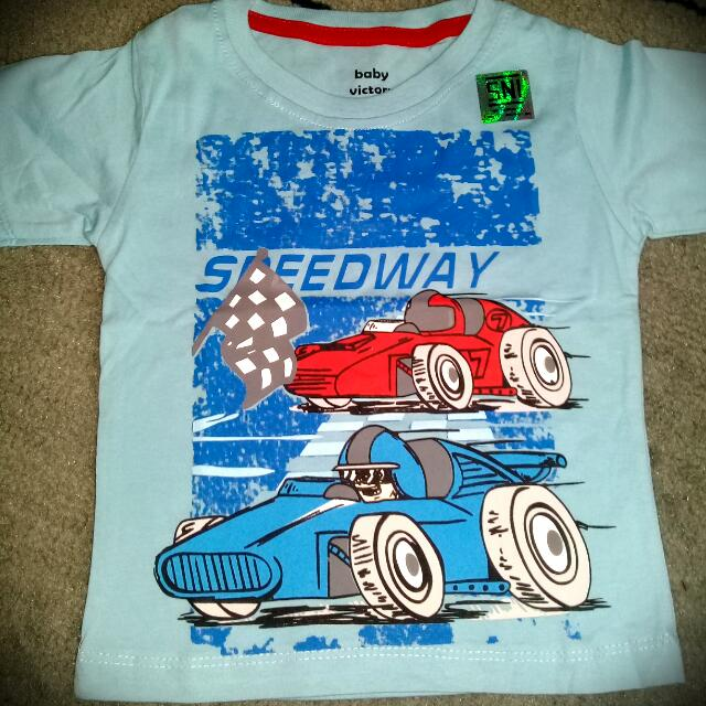 """Kaos Anak Cowok Merk Baby Victory """"Speedway"""" New With Tag"""