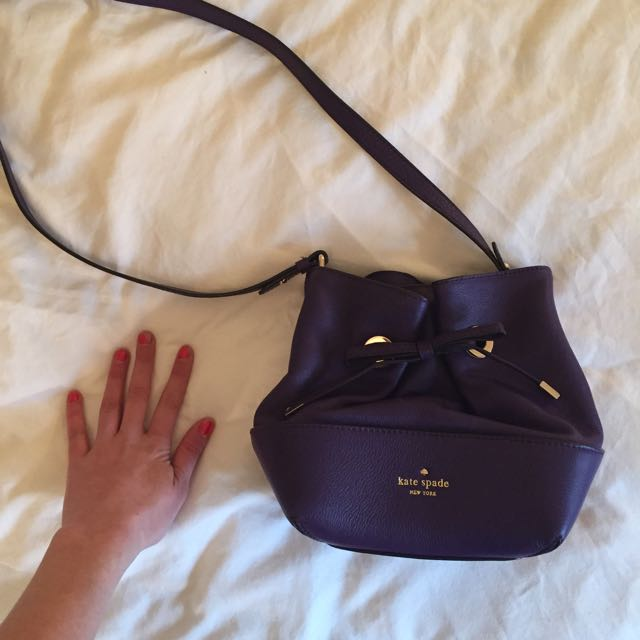 Kate Spade Purple Crossover Leather Handbag