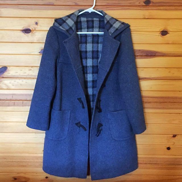 Light blue duffle Coat