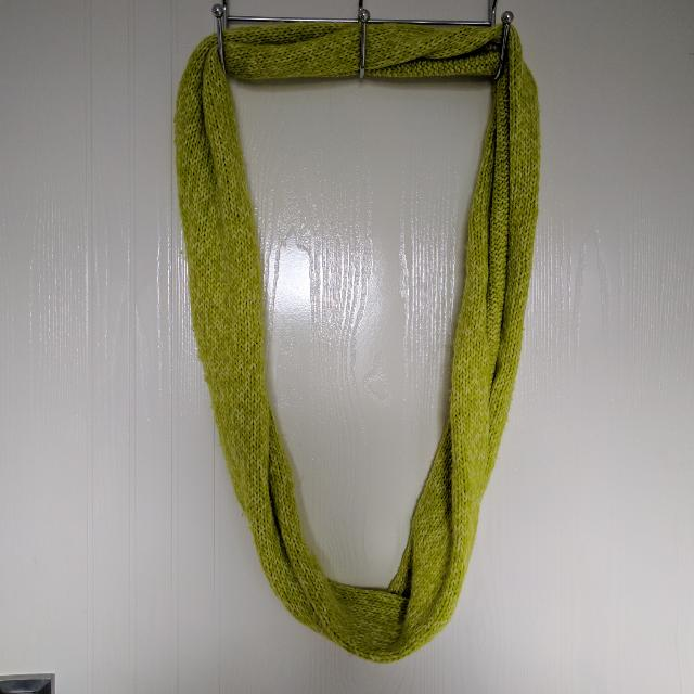 Lime Green Infinity Scarf