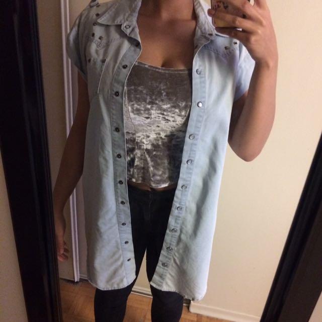 Long Jean Vest