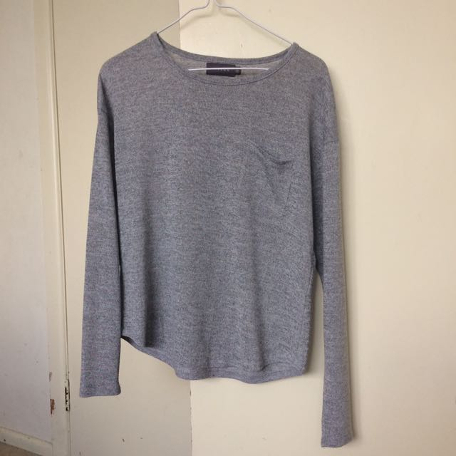 Grey Long Sleeve Top (Mirrou)