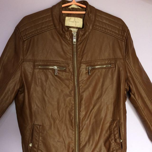 Man Leather Jacket Zara