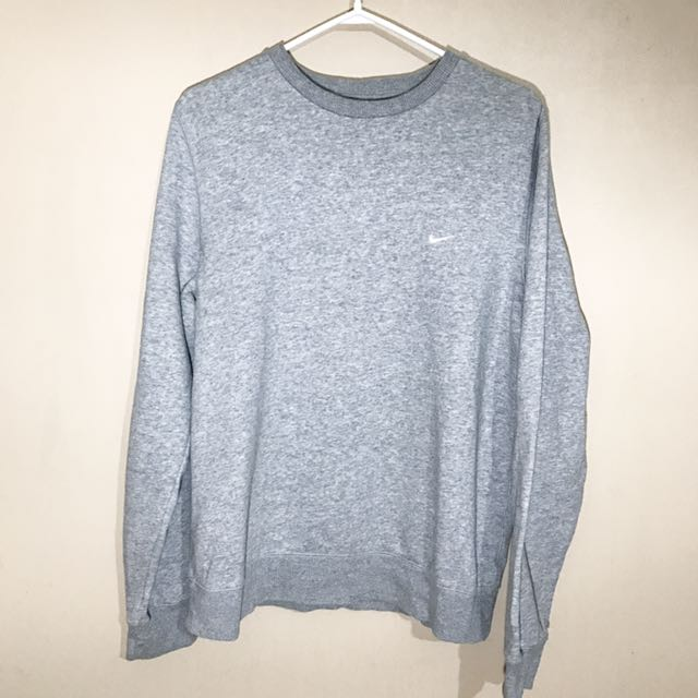 Men's Nike Crew Neck Sweatshirt Grey