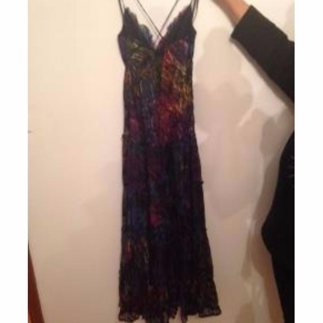 Midnight Pieno brand boho maxi dress